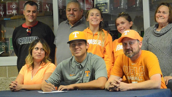 Piedra Vista's Chase Silseth signed his letter of intent Tuesday to continue his baseball career at NCAA Division I Tennessee.