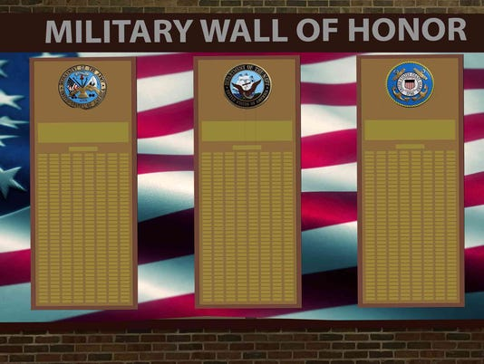 Menomonee Falls High School Military Honor Wall