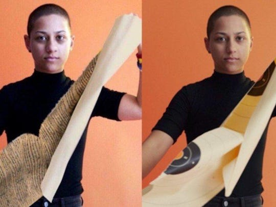 A doctored photo of Emma Gonzalez has surfaced online