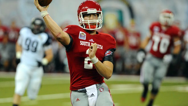 USD's Ryan Saeger completed 50 of 92 pass attempts for 660 yards last year while starting four games last season.