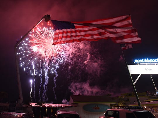 Dewey Beach celebrated the Fourth of July with a fireworks display shot from the Rehoboth Bay on Monday, July 4.