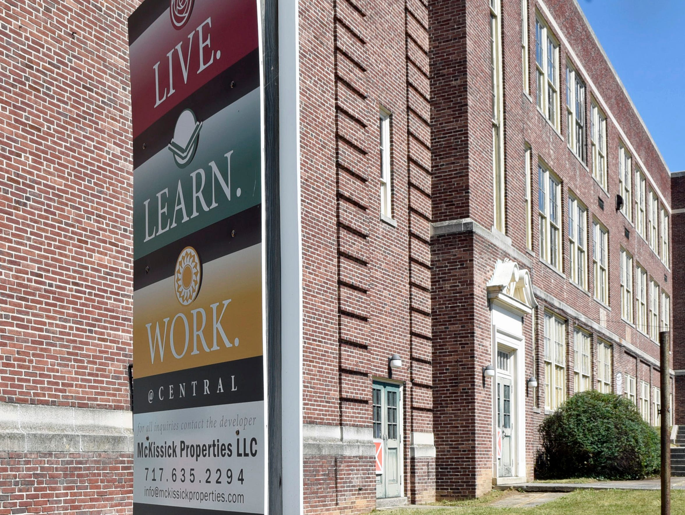 The former Chambersburg High School at the corner of