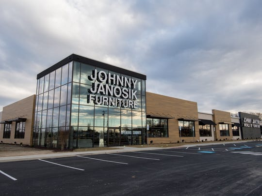 The Johnny Janosik store in Camden. The furniture store is opening its first two stores in the northern part of Delaware.