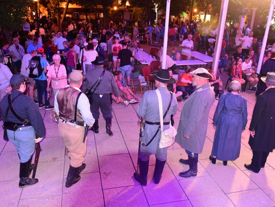 The 1864 Burning of Chambersburg was reenacted on Saturday,