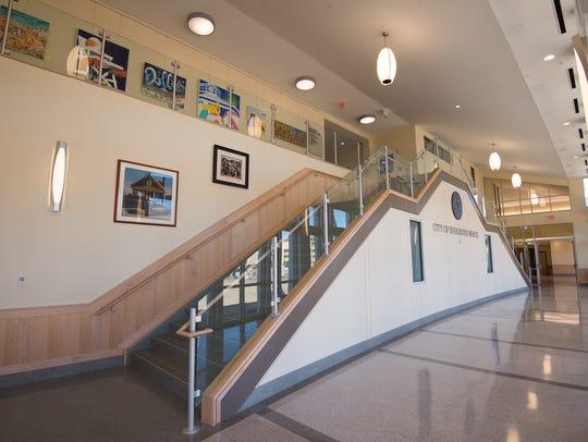 Interior of the new Rehoboth Beach City Hall.