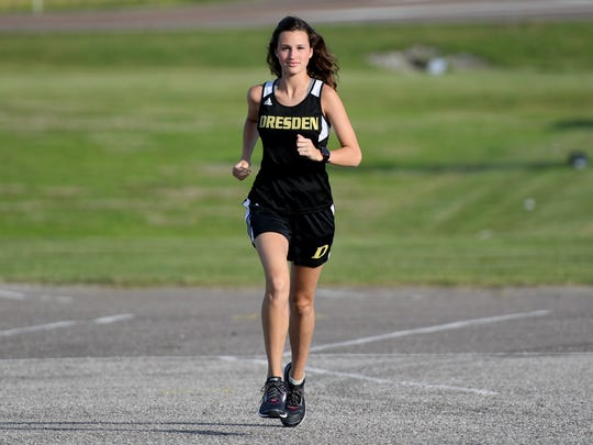 All-West Tennessee Girls' Track Player of the Year Dresden's Loral Winn