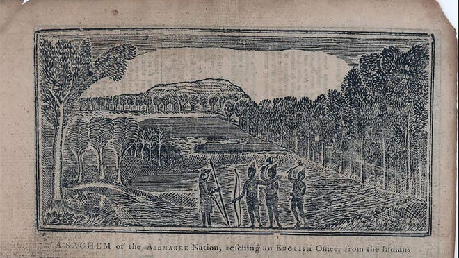 A sachem of the Abenakee Nation, rescuing an English officer from the Indians.