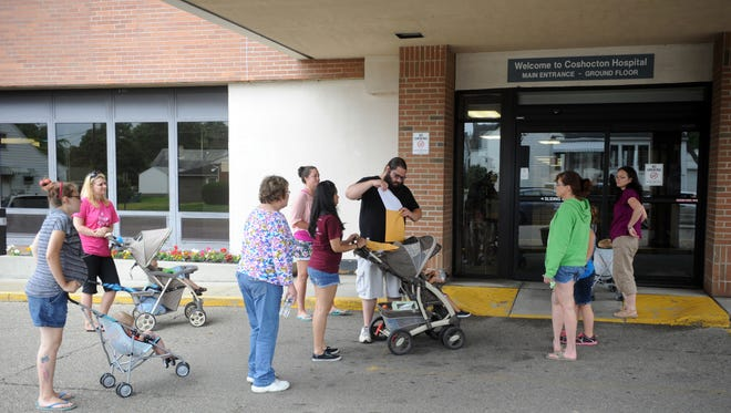 Residents delivered a petition to the hospital in 2014 protesting the closure of the birthing center. The closure was one of many changes to the hospital due to economic hardship.