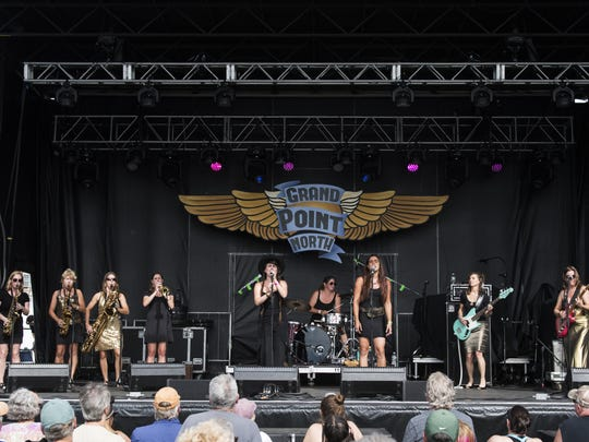Burlington-based Steady Betty played a Sunday afternoon set at Grace Potter's Grand Point North festival.