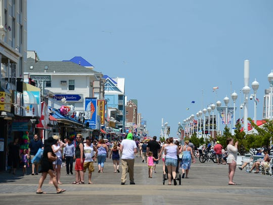 The Ocean City Boardwalk saw a nice crowd before the