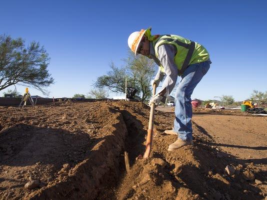 Sonoran Preserve construction