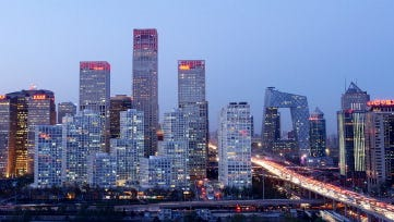 The Beijing skyline.
