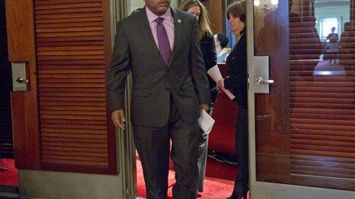 Assembly Speaker Carl Heastie, D-Bronx, leaves his Capitol office before meeting with Assembly Democrats on Tuesday in Albany.