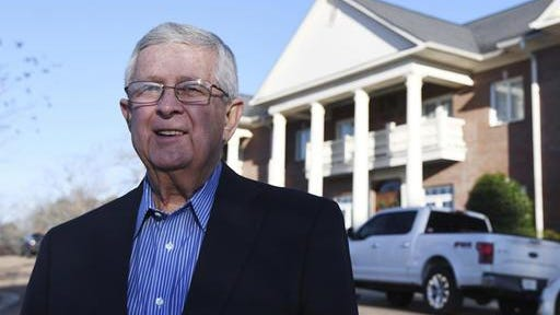 "Ed Meek, shown in this 2017 file photo, came under fire Wednesday, Sept. 19, 2018, for a Facebook post that University of Mississippi Chancellor Jeffrey Vitter described as containing ""unjustified racial overtone that is highly offensive."" Meek, whose name adorns the university's journalism school, deleted the post more than four hours after publishing it."