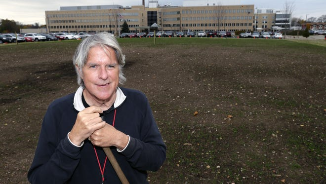Paul Linzmeyer, who recently retired as ThedaCare's sustainability leader, was the driving force behind an urban farm across from ThedaCare Regional Medical Center-Neenah. The project stalled because of a code compliance issue.