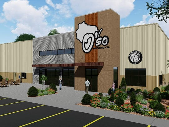 A rendering of what O'so Brewing's new headquarters