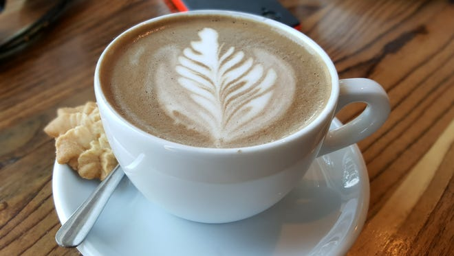 A mocha latte from Constant Coffee.
