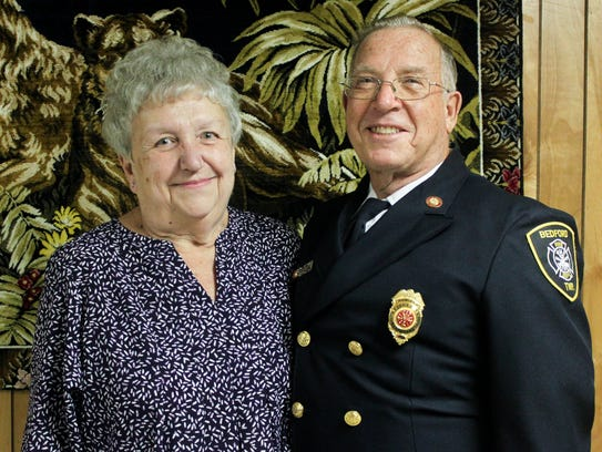 Chief Larry Cochensparger and his wife, Bonnie.