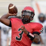 Clinton sophomore Cam Akers throws the ball for the Arrows against Ridgeland on Friday night, August 29, at Clinton High School.