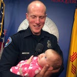 Albuquerque officer honored for adopting baby from opioid-addicted mom