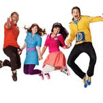 The Fresh Beat Band consists of Twist, right, aka Jon Beavers; Yvette Gonzalez-Nacer as Kiki; Tara Perry as Marina; and Shout aka Tommy Hobson.