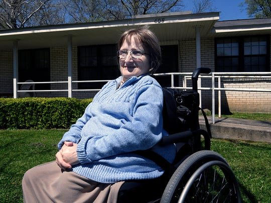 Kim Buchi, 53, has lived in public housing on Chickasaw Place for 22 years and will be moving into the new Park Street public housing in May. These new units are another phase of the Franklin Housing Authority's 10-year plan to better housing