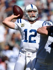 Colts quarterback Andrew Luck (12)