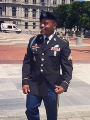 Christopher Thaxton, an Army veteran, Purple Heart