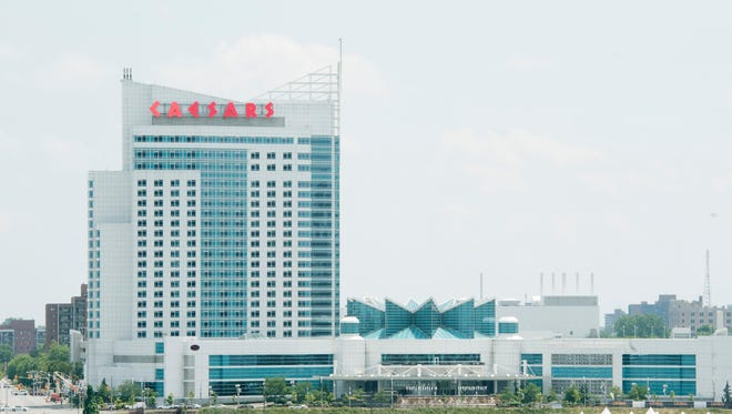 Windsor Caesars Casino and hotel along the Detroit River in Windsor, Canada on July 8, 2016.
