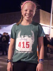 14-year-old Tess Piper was the first woman finisher