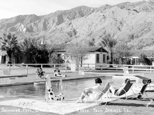 Poolside at Deep Well Ranch, circa 1935.