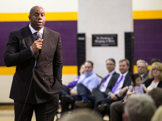 Magic Johnson told Lipscomb donors that his Christian