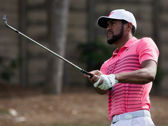 Tony Finau, who tied for fourth with LPGA Tour star Lexi Thompson last year, had a breakthrough 2018 with 11 top-10s, including three in major championships, and being picked for the Ryder Cup team. He's back in the Shootout this year.