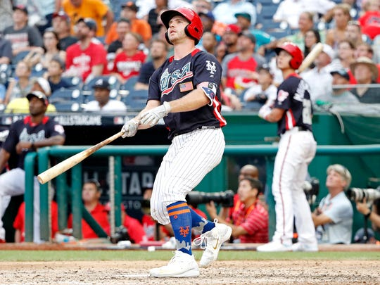 USA infielder Peter Alonso hits a bomb at the Futures