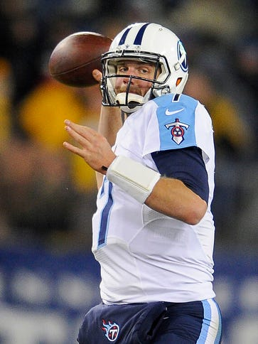 Titans quarterback Zach Mettenberger went 0-6 as a