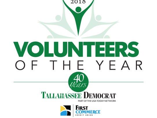Volunteers of the Year logo.