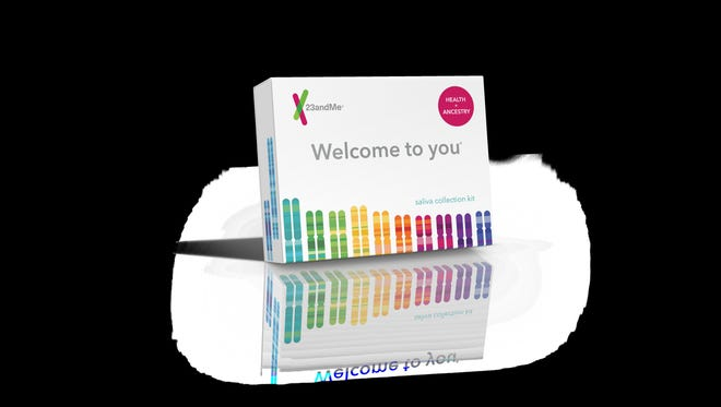 "One of the many items in the ""Everyone Wins"" gift bag? A 23andMe DNA test."