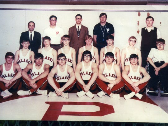 The Pulaski wrestling team during the 1970-71 season.