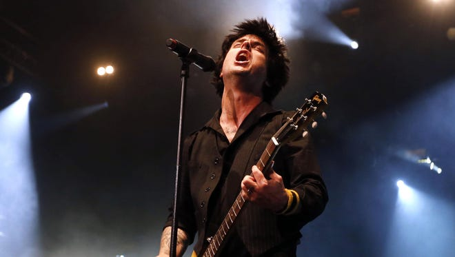 Green Day was supposed to be the Friday headliner at the NiFi Festival. Shown here is lead singer Billie Joe Armstrong.