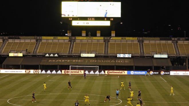When Columbus Crew SC played the Chicago Fire at Mapfre Stadium August 20, 2020, the game was held without any fans.