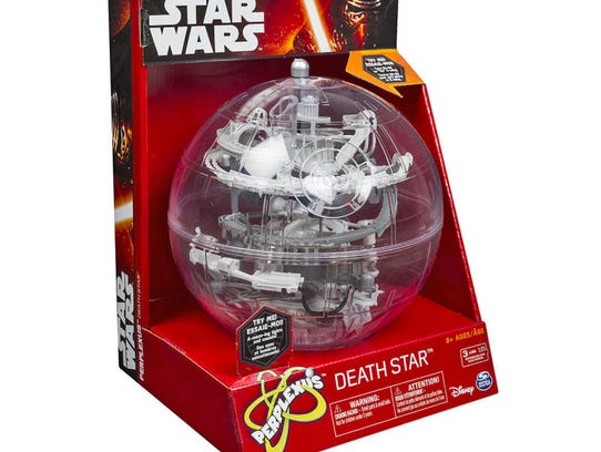 The Perplexus Death Star puzzle ball is shown.