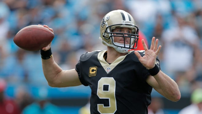 Saints quarterback Drew Brees has thrown for 1,135 yards and eight touchdowns with no interceptions this season.