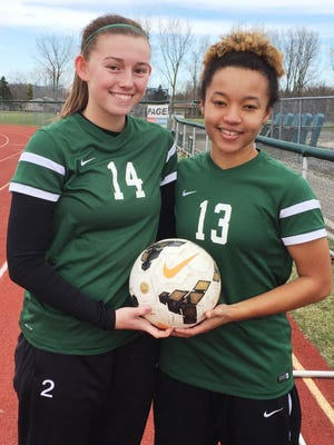 Novi returns first team All-Area seniors Megan Riley (left) and Chloe Allen from last year's 9-4-4 squad.