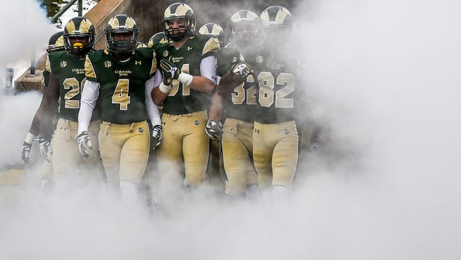 CSU's football players will run out of the tunnel Saturday  before the first game of the Rams' final season at Hughes Stadium.