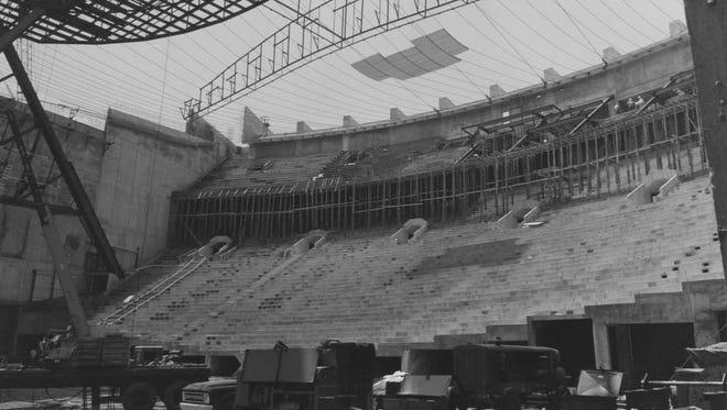 Assembly Hall construction July 2, 1970.