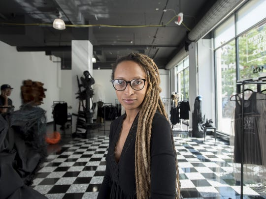 Roslyn Karamoko is founder and CEO of Detroit Is The New Black on Woodward in Detroit.