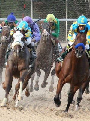 Mr. Z, left, finished third in the April 11 Arkansas Derby.