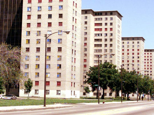 Part of the Chicago Housing Authority's Cabrini-Green public housing complex in January 2005.