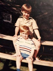 Prince William and Prince Harry in undated photo from