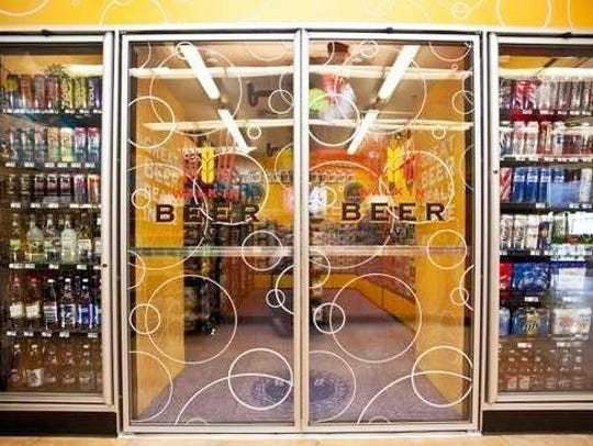 Sheetz opened three beer caves in Pennsylvania on Wednesday.
